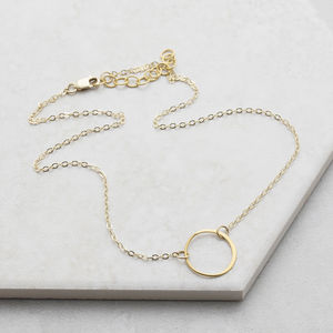 Gold Circle Choker - necklaces & pendants