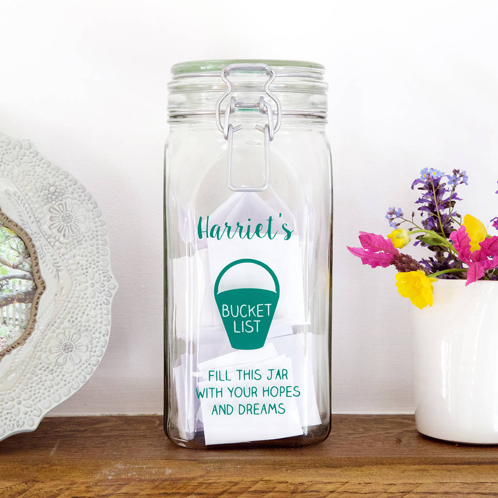 Personalised Bucket List Jar