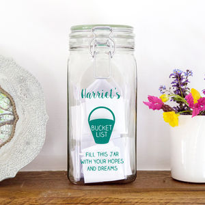 Personalised Bucket List Jar - tins, jars & bottles
