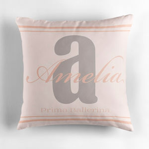 Personalised Initial Cushion For Her