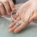 Sister Open Cuff Birthstone Bangle