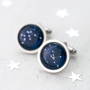 Personalised Zodiac Constellation Cufflinks - star sign gifts