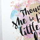 'Little But Fierce' Watercolour Print Best Friend Gift