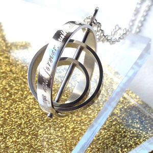 'The Day My Life Changed' Three Ring Necklace - gifts £75 and over
