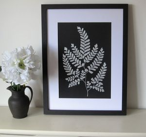 Original Silver Fern Painting - nature & landscape