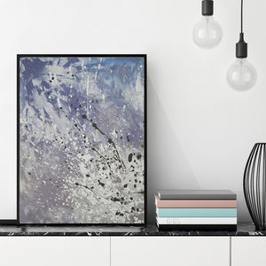 'Airo Cool' Framed Giclée Abstract Canvas Print Art