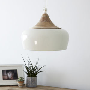 Casablanca Pendant Light Cream - ceiling lights