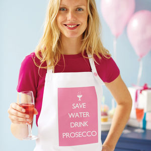 'Save Water Drink Champagne' Apron - gifts for foodies