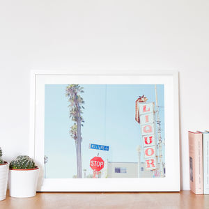 Personalised 'Liquor' American Street Sign Print - shop by subject