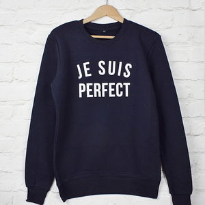 I Am Perfect Sweatshirt - women's fashion