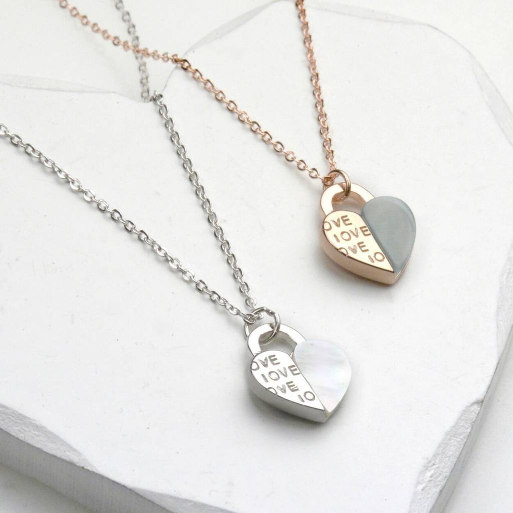 Heart Filled With Love Silver Or Rose Gold Necklace