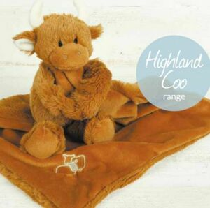 Highland Coo Baby Toy Comforter/Soother Gift Boxed