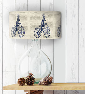 Deer On Bicycle Lampshade - lighting