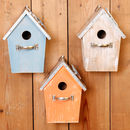 Personalised Multicolour Driftwood Bird Boxes
