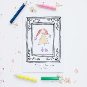 Personalised Teacher Frame Card - personalised
