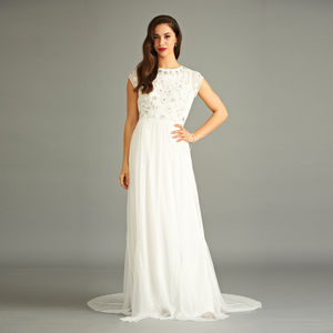 Beyla Sequin Wedding Dress - dresses