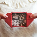 Origami keepsake with four photographs