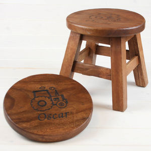 Personalised Wooden Stool For Children - living room