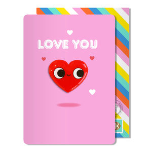 Thinking Of You Love Heart Magnet Blank Card