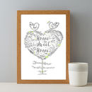 Personalised New Home Sweet Home Couples Gift Print