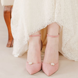 Flower Pearl Wedding Shoe Clips - bridal shoes