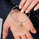 Personalised Star Charm Bangle