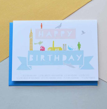 Happy Birthday London Landmarks Card