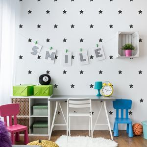Contemporary Mini Star Wall Stickers