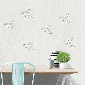 Origami Bird Wall Stickers - children's room