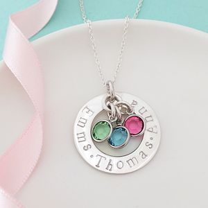 Birthstone Family Necklace - necklaces & pendants