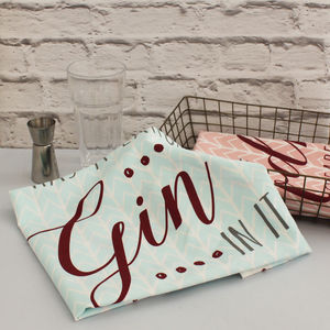Gin And Tonic Tea Towel