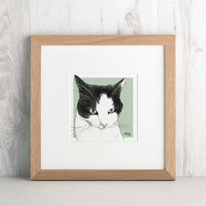 Bespoke Cat Portrait - pet portraits