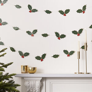 Garland Foiled Holly Leaves