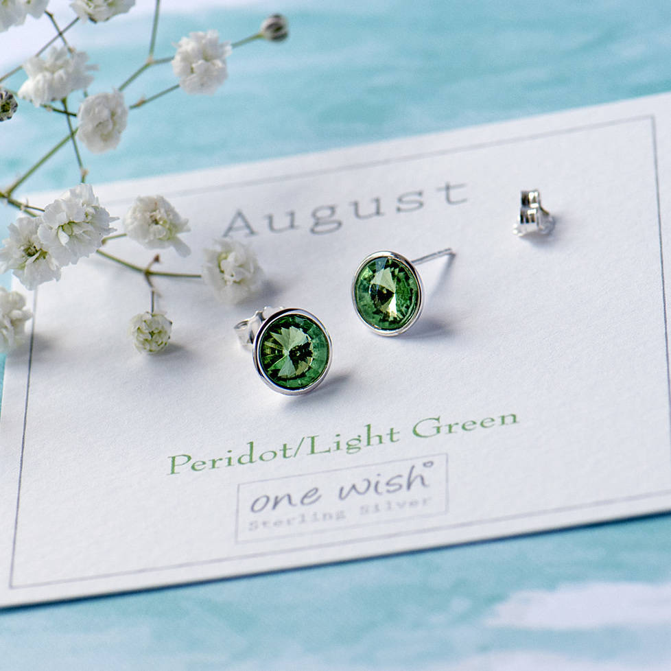 e35e5aa32 july birthstone sterling silver stud earrings by grace & valour ...