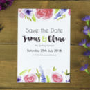 Purples Spring Floral Save The Date Card