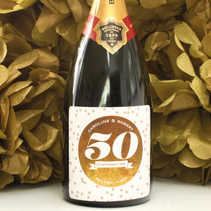 Personalised Anniversary Bubbles Labels
