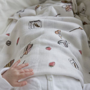 Bamboo Baby Swaddle Baking Blanket