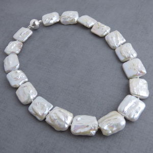 Chunky Square Pearl Necklace - necklaces & pendants