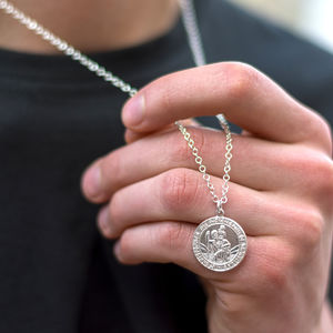 St Christopher Chunky Round Necklace - necklaces