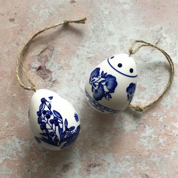 Painted Ceramic Egg Decorations