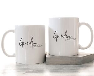 Grandparents Established Mug Set Of Two