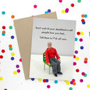 Deathbed Funny Rude Card