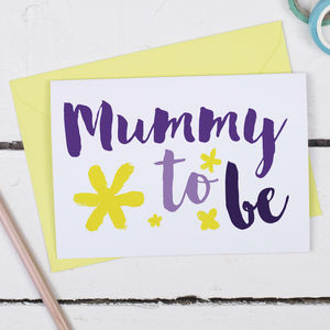 Mummy To Be, Mother's Day Card