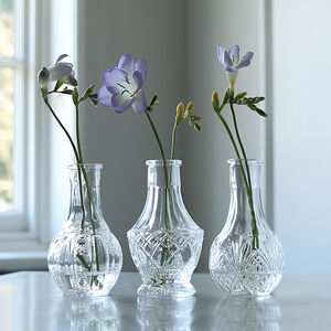 Mini Pressed Glass Bottle Trio