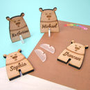 Personalised Polar Bear Place Names Pack Of Four