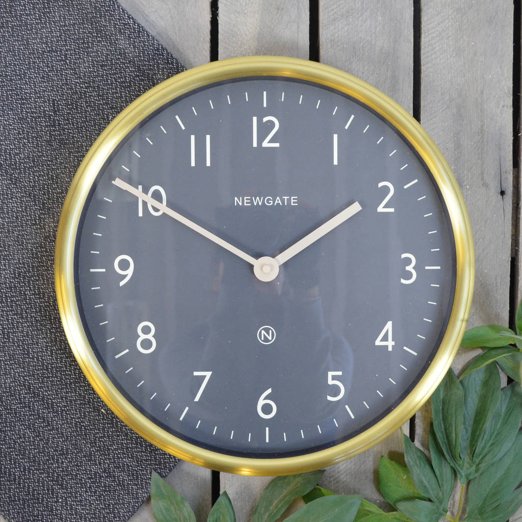 Newgate the spy metal wall clock by the orchard newgate the spy metal wall clock radial brass finish amipublicfo Images