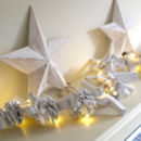 Whitewashed Pinecones And Driftwood Light Garland