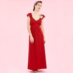 Maxi Dress In Ruby Crepe