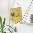 Personalised Wooden Name Sign With Tassel