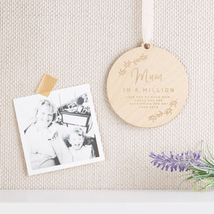 Mum In A Million Wooden Hanging Keepsake - gifts for the home